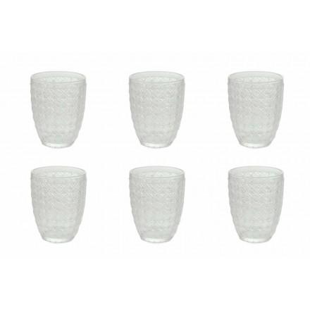 12-delige serveerbril in transparant glas voor water - optisch