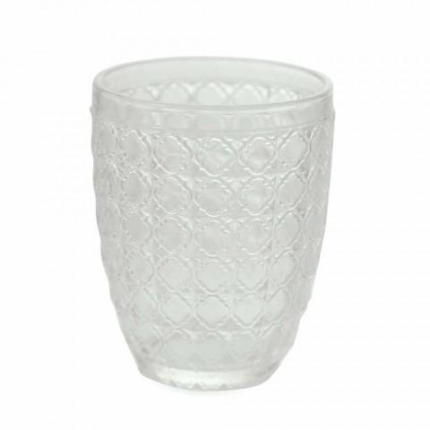 6-delige serveerbril in transparant glas voor water - optisch