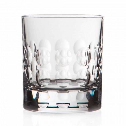 Dubbele ouderwetse kristallen whiskyglazen 12 stuks - Titanioball