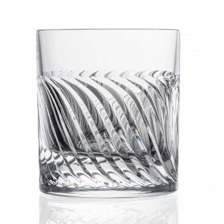 Luxe Eco Crystal DOF Design Whiskyglazen 12 Stuks - Aritmie