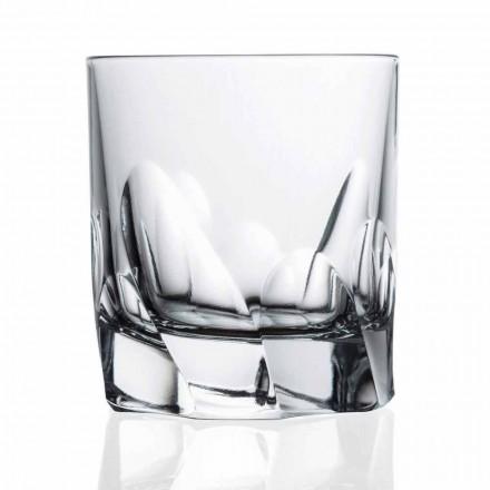 Versierd Kristalglas Whisky of Water 12 Stuks Dof Design - Titanium