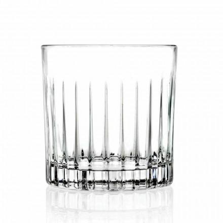 Dubbele Ouderwetse Tumbler Lage Glazen 12 Stuks Luxe - Senzatempo