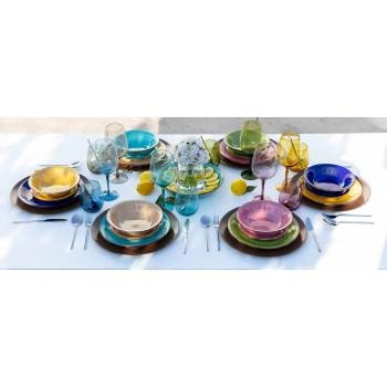 Gekleurde glazen bekers voor water Modern onderhoud van 12 stuks - Aperi
