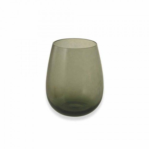 Gekleurde glazen bekers voor water Modern onderhoud van 6 stuks - Aperi