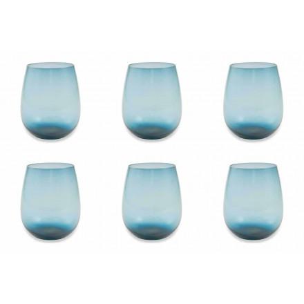 Moderne en gekleurde glazen waterglazen Service van 12 stuks - Aperi