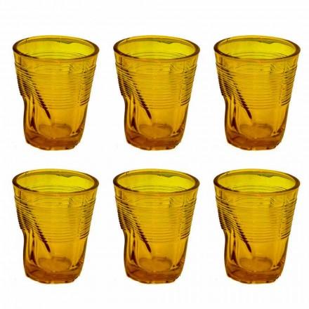 Modern gekleurde glazen waterglazen 12 stuks ontwerp - Sarabi