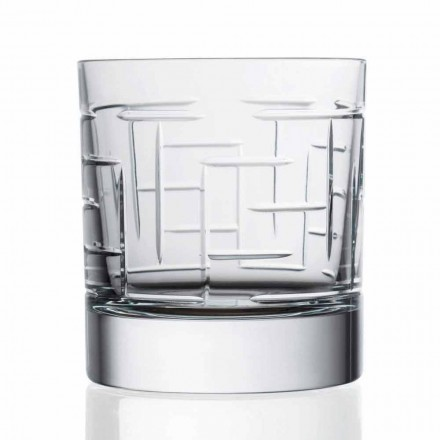 Dubbele ouderwetse kristallen Schotse whiskyglazen 12 stuks - aritmie
