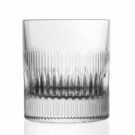 Kristallen whisky- en waterglazen 12 stuks vintage stijl decor - tactiel