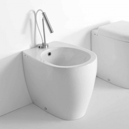 Modern design vloer bidet in gekleurd keramiek Made in Italy - Lauretta