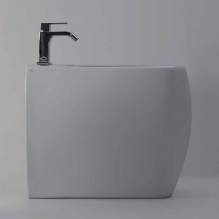 Wit ceramisch bidet met modern ontwerp Gais, made in Italy
