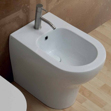 Bidet modern design in wit keramiek 54x35 cm Ster, made in Italy