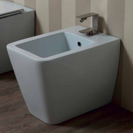 Bidet wit keramiek modern design Zon 55x35 cm Made in Italy