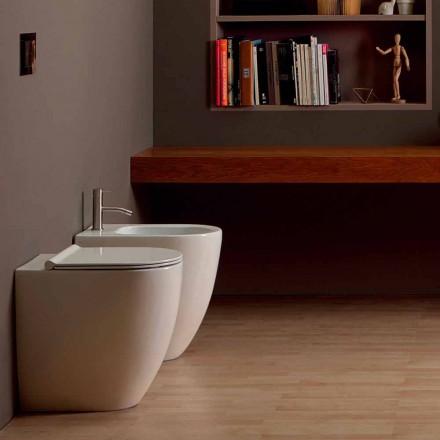 Bidet in modern design keramische Shine Plein Open Rimless H50 cm