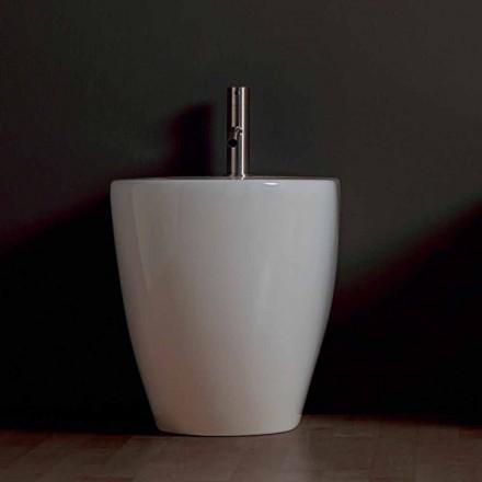 Bidet moderne keramische Shine Plein Rimless 54x35cm Made in Italy