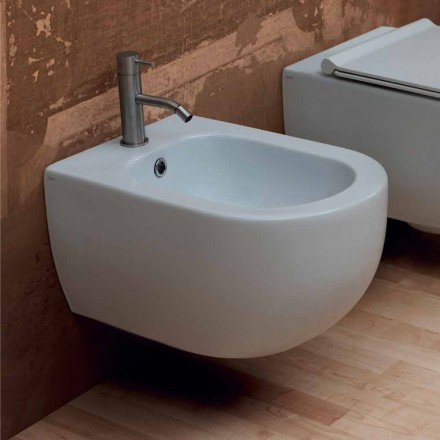 Hung bidet in modern design keramiek Star 55x35cm Made in Italy