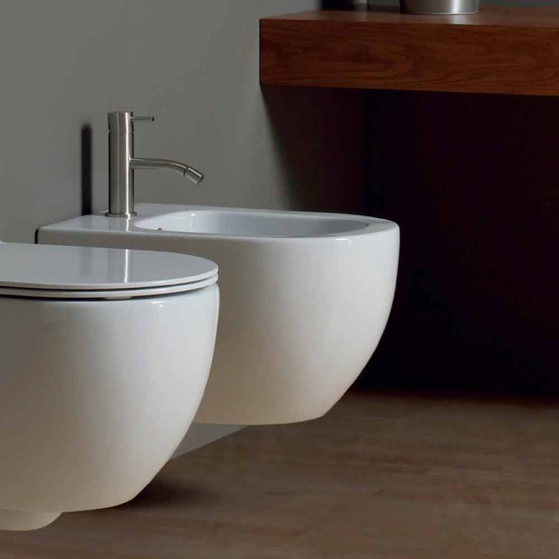 Bidet modern pendel wit keramiek Star 50x35cm Made in Italy