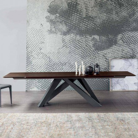 Bonaldo Big Table verlengbare tafel gemaakt van Italië design hout