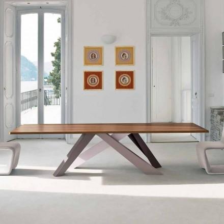 Bonaldo Big Table gefineerde houten tafel gemaakt in Italië ontwerp