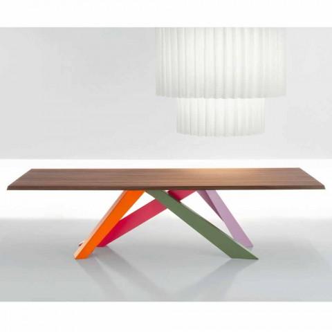 Notenhouten Design Eettafel.Bonaldo Big Table Massief Amerikaans Notenhouten Tafelblad Gemaakt