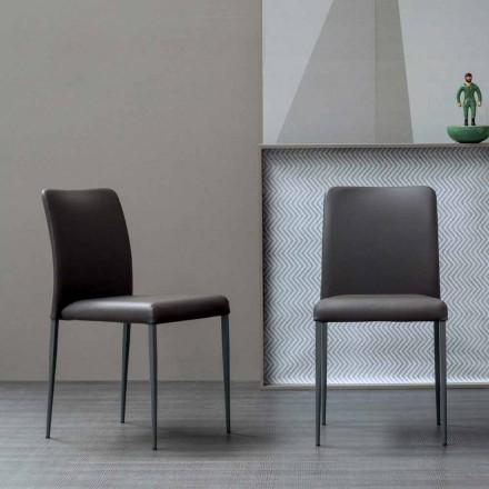 Bonaldo Deli designstoel met gestoffeerde zitting gemaakt in Italië
