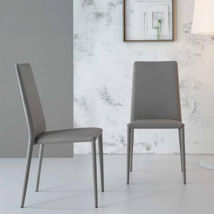 Bonaldo Eral moderne design stoel bekleed met leer gemaakt in Italië