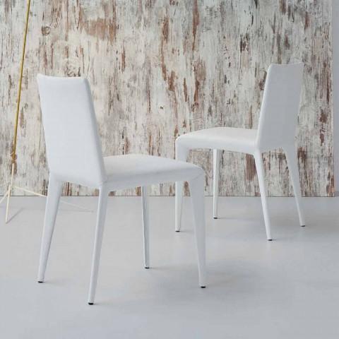 Design Fauteuil Wit Leer.Bonaldo Filly Gestoffeerd Design Stoel In Wit Leer Gemaakt In Italie