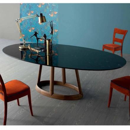 Bonaldo Greeny design ovale tafel in Marquinia marmer gemaakt in Italië