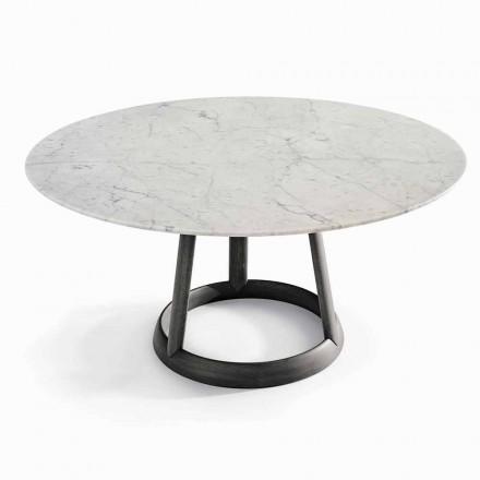 Bonaval Greeny ronde tafel ontwerp Carrara marmeren vloer gemaakt in Italië