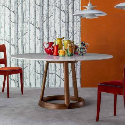 Bonaldo Greeny ronde tafel Calacatta marmeren vloer gemaakt in Italië