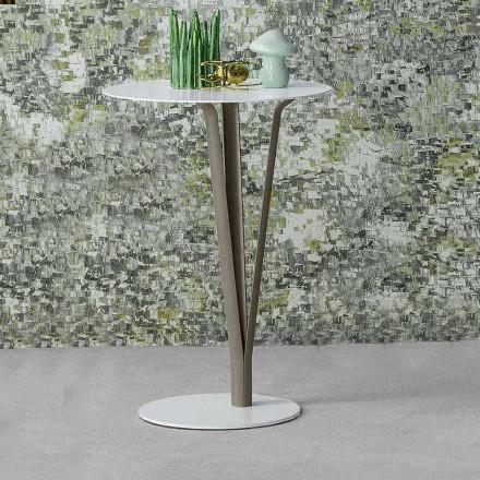 Bonaldo Kadou designtafel in geverfd staal D39cm gemaakt in Italië