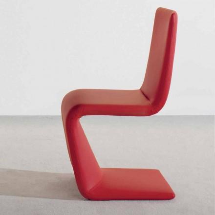 Moderne design stoel Bonaldo Venere bekleed met leer vervaardigd in Italië