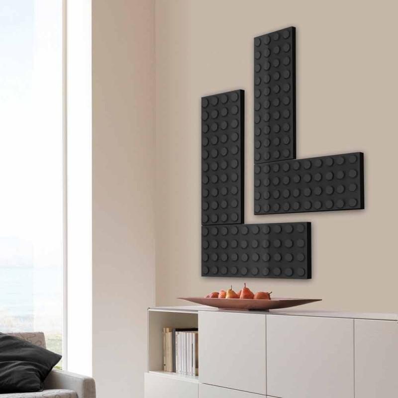 Baksteen radiator elektrische lego gemaakt in Italië Scirocco H
