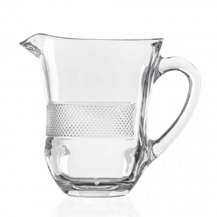 Luxe gedecoreerde ecologische kristallen glazen kan, 2 stuks - Milito