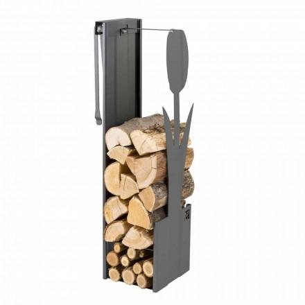Caf Ontwerp PLVF brandhout houder staal, modern design