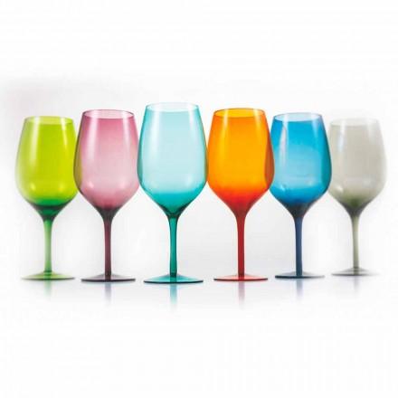 Wit of rood gekleurde wijnglazen in glas 3 varianten 12 stuks - Aperi