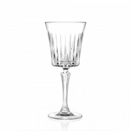 Luxe Wijn- en Cocktailglazen Design in Eco Kristal 12 Stuks - Senzatempo