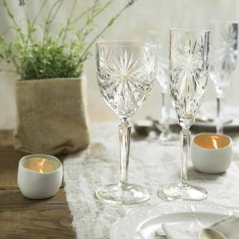 12 stuks ecologische kristallen wijn- of waterglazen - Daniele
