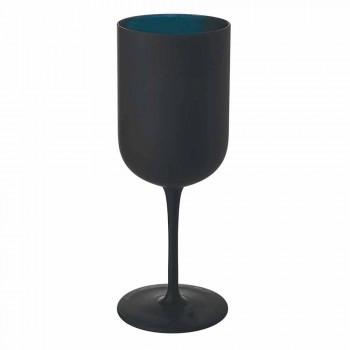 Bekers in matglas Witte en zwarte wijn Service 12 stuks - Norvegiomasai