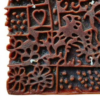 Ambachtelijke kaars met 4 lonten in geparfumeerde was, gemaakt in Italië - Tacna