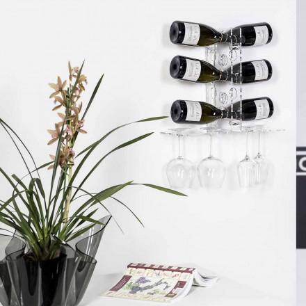 Kelderdeur transparante flessen Luna muur, modern design