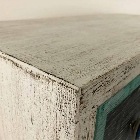 Artisanale ladekast in sparrenhout met 3 laden Made in Italy - Monkey