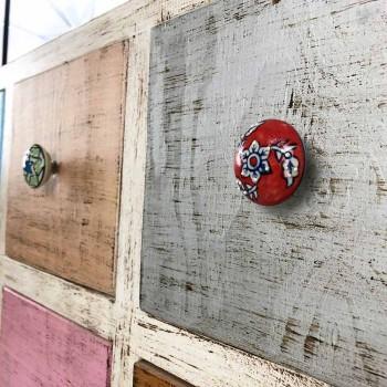 Ambachtelijke ladekast in massief hout met 9 laden Made in Italy - Pierrot