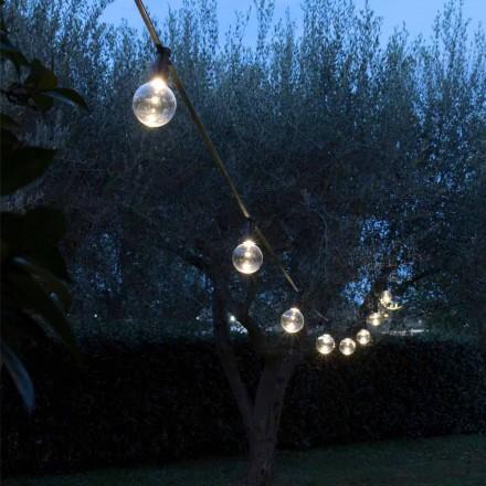 Neopreen kabel voor buiten met 8 led-lampen inbegrepen Made in Italy - Party
