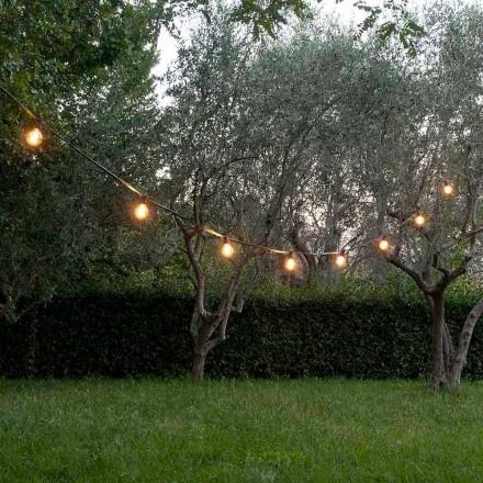 Neopreen kabel voor buiten met 8 lamphouders en 2 haken Made in Italy - Festa