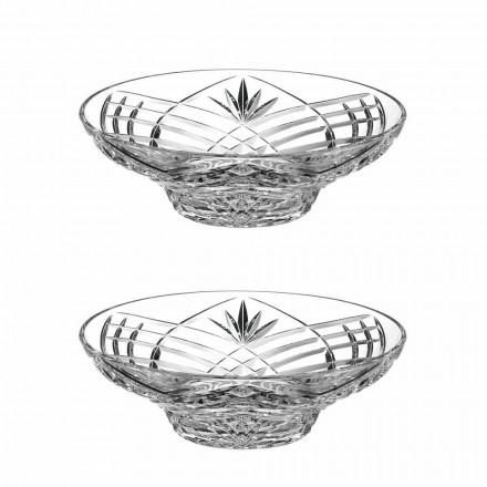 Vintage design middelpunt in ecologisch kristal 2 stuks - Cantabile