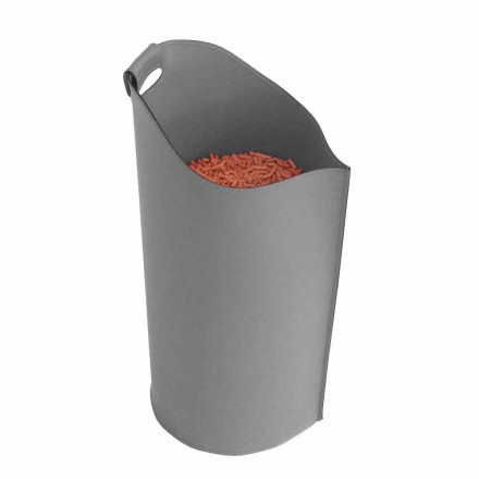 Indoor pellet houder mand lederen 15 Kg Sapel ontwerp