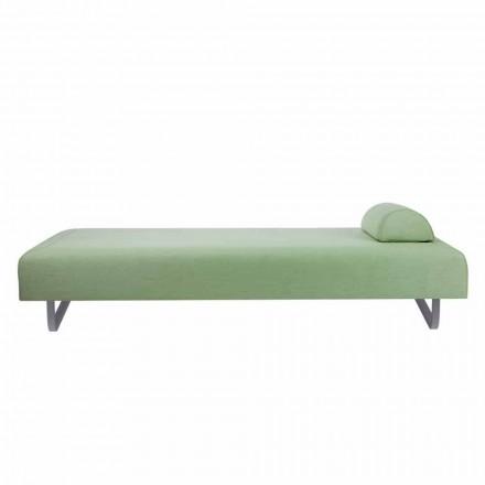 Design chaise longue voor buiten in metaal en stof Made in Italy - Selia