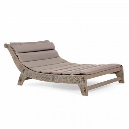 Outdoor Teakhouten Chaise Longue met Homemotion Inlays - Giobbe