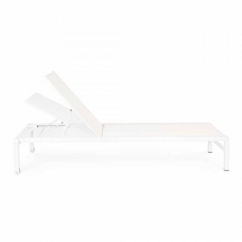 Homemotion Aluminium liggende chaise longue voor de tuin, 4-delig - Lester