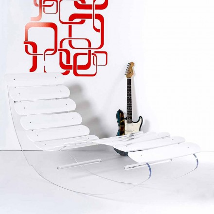 Chaise longue ontwerp plexiglas Josue made in Italy